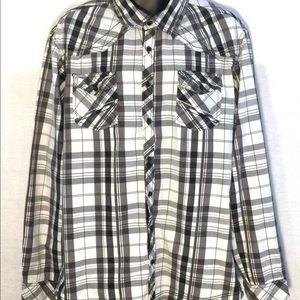 Buckle Men's Western Plaid Shirt XL